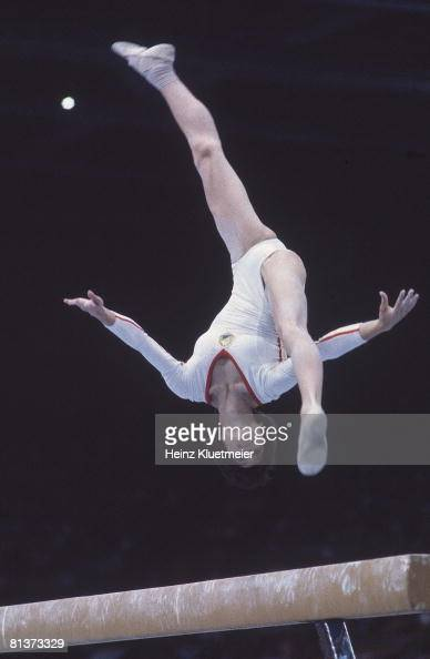 Summer Olympics Rom Nadia Comaneci In Action During