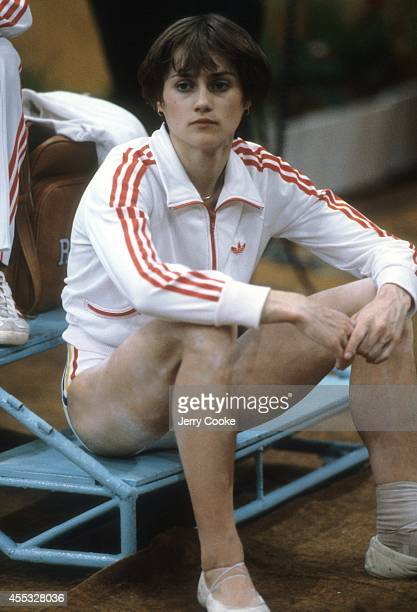 1980 Summer Olympics View of Romania Nadia Comaneci before Women's event at Sports Palace of the Central Lenin Stadium Moscow Soviet Union 7/23/1980...