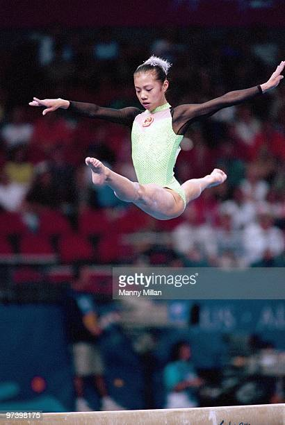 Summer Olympics: China Dong Fangxiao in action during Women's Individual All Around Final at Sydney SuperDome. Sydney, Australia 9/21/2000 CREDIT:...