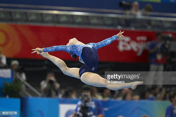 2008 Summer Olympics Russia Anna Pavlova in action floor exercise during Women's Individual AllAround Final at National Indoor Stadium Beijing China...