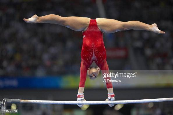 Shawn Johnson - Uneven Bars - 2008 Olympic Trials - Day 1 - YouTube