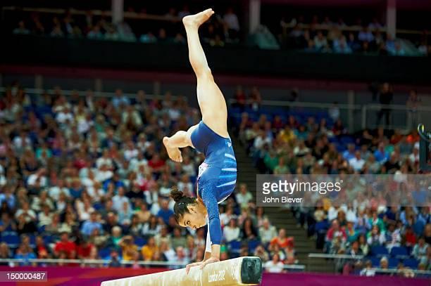 2012 Summer Olympics USA Alexandra Raisman in action during Women's Balance Beam Final at North Greenwich Arena Raisman wins bronze London United...