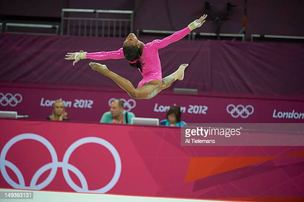 2012 Summer Olympics USA Gabrielle Douglas in action during Women's Practice Session at North Greenwich Arena London United Kingdom 7/26/2012 CREDIT...