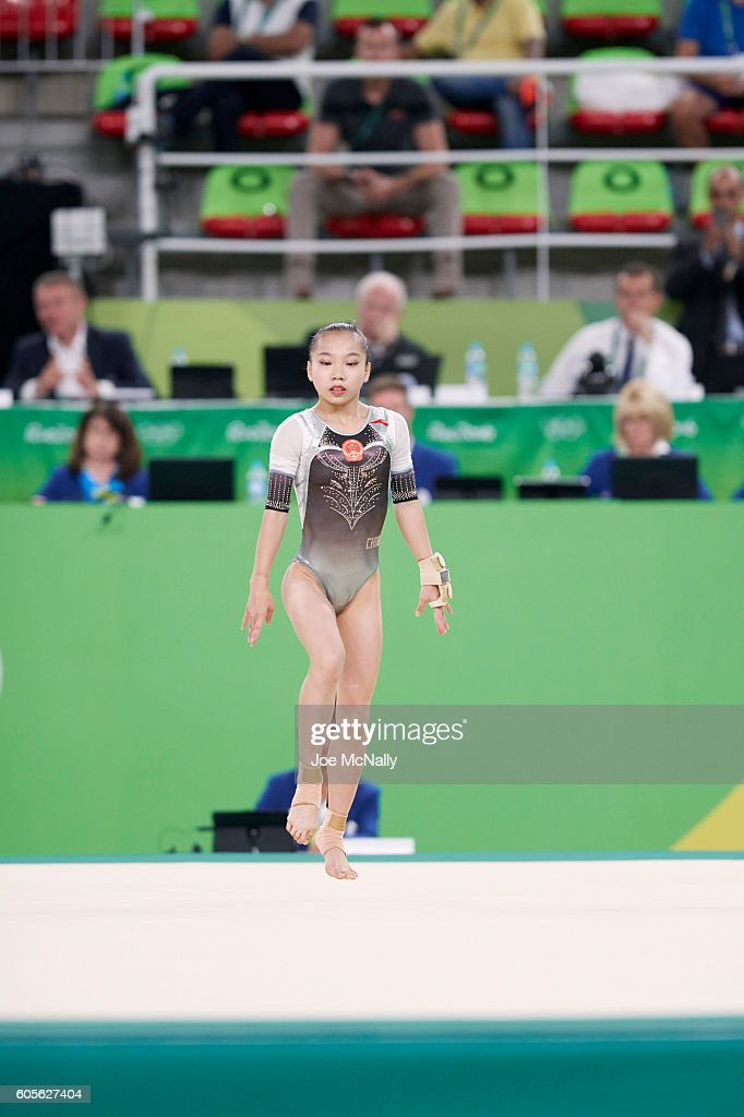 China Yan Wang In Action During Women S Floor Exercise Final
