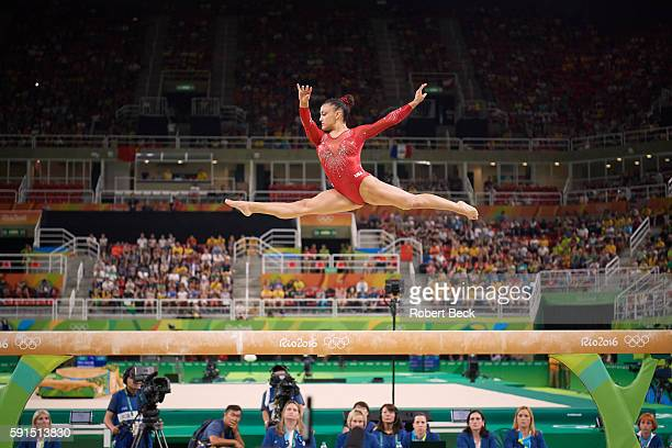2016 Summer Olympics USA Laurie Hernandez in action during Women's Balance Beam Final at Rio Olympic Arena Hernandez wins Silver Rio de Janeiro...