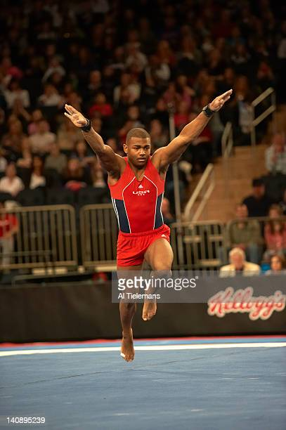 ATT American Cup USA John Orozco in action during Men's floor exercise competition at Madison Square Garden New York NY CREDIT Al Tielemans