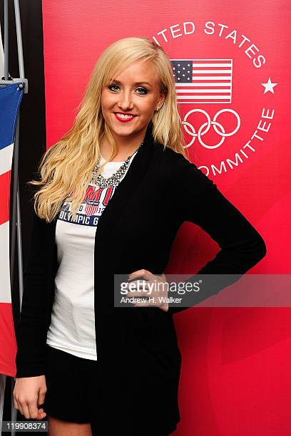 Gymnastics Olympic champion Nastia Liukin attends the Team USA Britain Bound party at Alice Tully Hall Lincoln Center on July 26 2011 in New York City