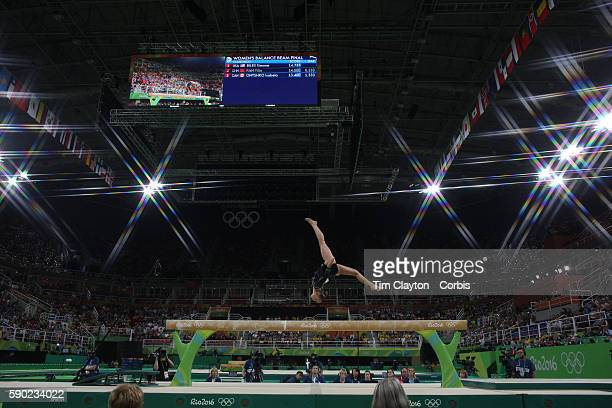 Day 10 Sanne Wevers of The Netherlands performing her routine that won the gold medal in the Women's Balance Beam Final during the Artistic...