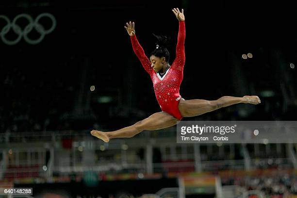 Day 10 Simone Biles of the United States performing her routine in the Women's Balance Beam Final during the Artistic Gymnastics competition at the...
