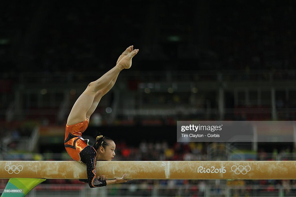 Day 10 Yilin Fan of China during her routine in the Women's Balance Beam Final during the Artistic Gymnastics competition at the Rio Olympic Arena on August 15, 2016 in Rio de Janeiro, Brazil.