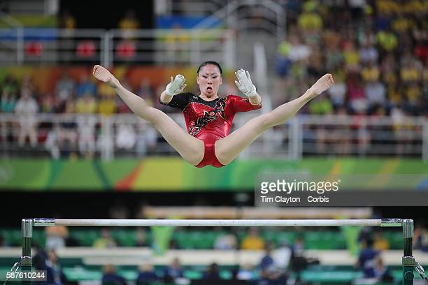 Day 2 Kim Bui of Germany performing her routine on the uneven bars during the Artistic Gymnastics Women's Qualification round at the Rio Olympic...