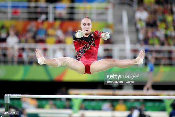 Day 2 Tabea Alt of Germany in action on the Women's Uneven Bars during the Artistic Gymnastics Women's Qualification round at the Rio Olympic Arena...