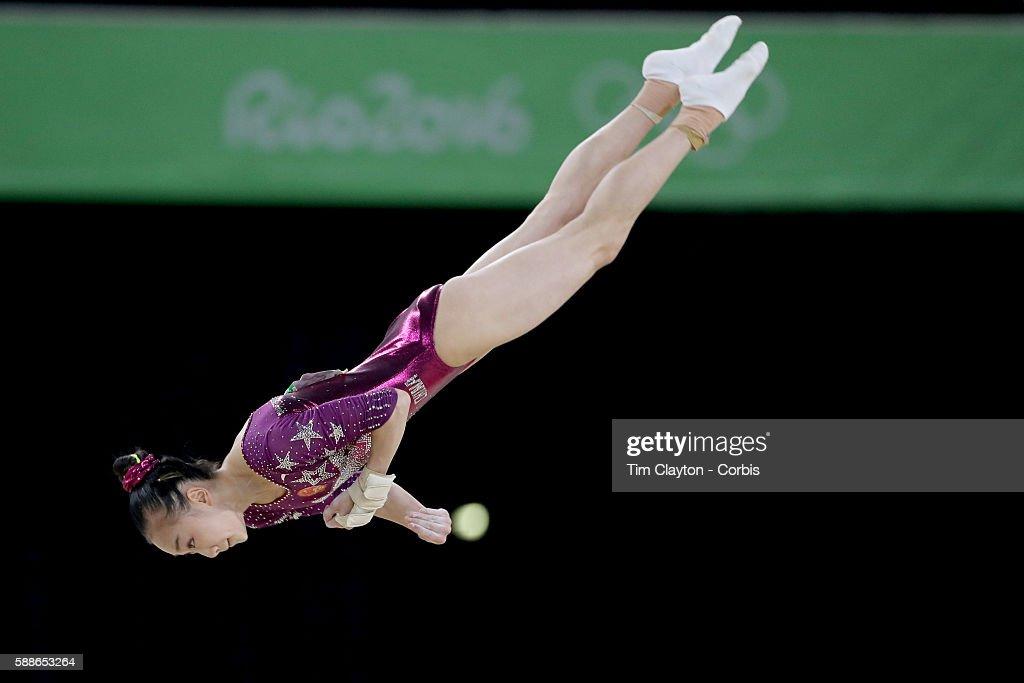 floor gymnastics olympics. Day 4 Yi Mao Of China Performing Her Floor Routine During The Artistic Gymnastics Women\u0027s Team Olympics