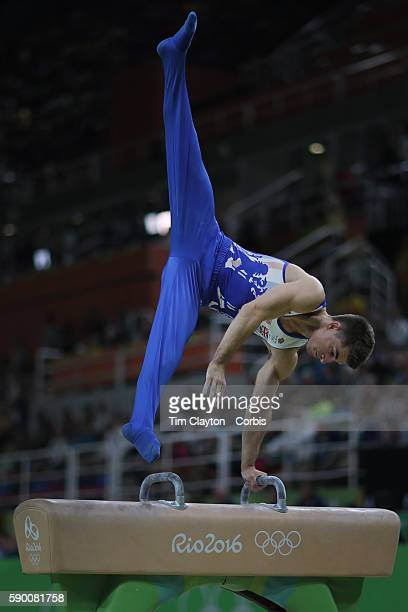 Day 9 Max Whitlock of Great Britain performs his routine in the Men's Pommel Horse Final to win the gold medal at the Rio Olympic Arena on August 14...