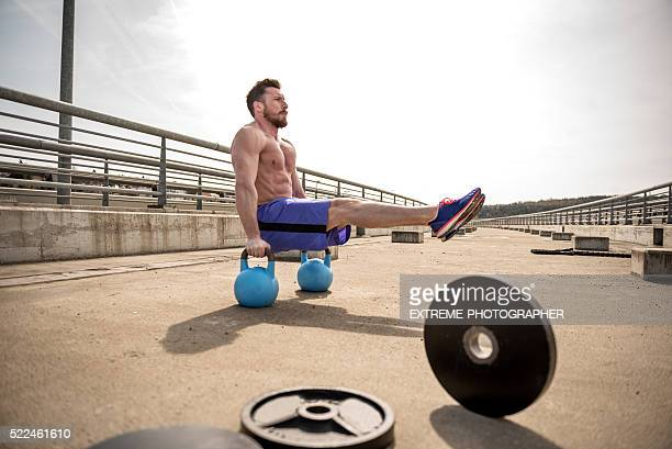 Gymnastics on the bridge