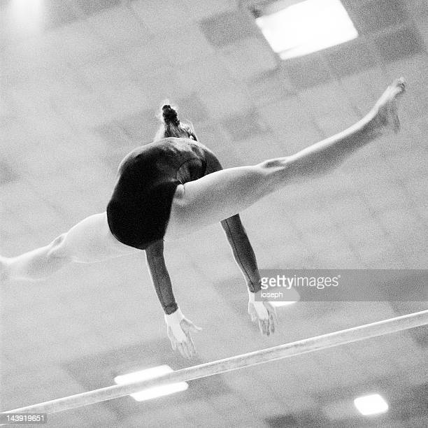 gymnastics - horizontal bars stock pictures, royalty-free photos & images