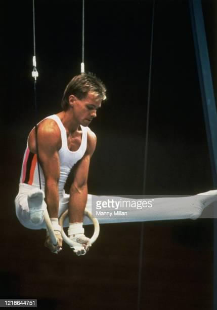 US Championships Kurt Thomas in action on the rings at Shoemaker Center Cincinnati OH CREDIT Manny Millan