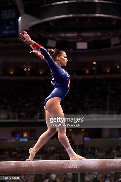 US Olympic Trials Alicia Sacramone in action balance beam during Women's Competition at HP Pavilion San Jose CA CREDIT John W McDonough