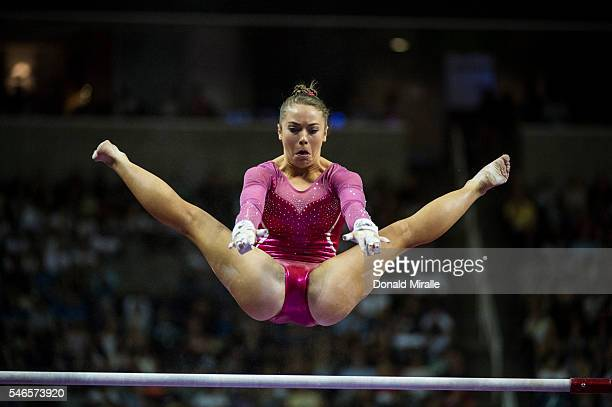 US Olympic Trials Christina Desiderio in action uneven bars during Women's Competition at the SAP Center San Jose CA CREDIT Donald Miralle