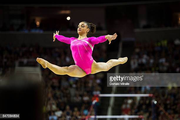 US Olympic Trials Laurie Hernandez in action floor exercise during Women's Competition at the SAP Center San Jose CA CREDIT Donald Miralle