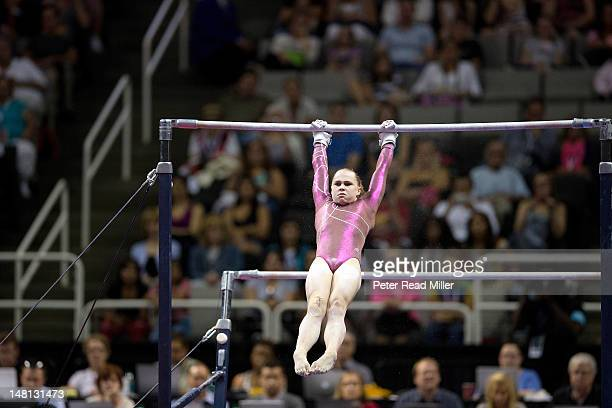 US Olympic Trials Rebecca Bross in action on uneven bars during Women's Competition at HP Pavilion San Jose CA CREDIT Peter Read Miller