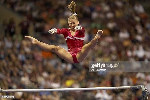 US Olympic Trials Shawn Johnson in action during Uneven Bars competition of AllAround Finals Day 1 at Wachovia Center Philadelphia PA 6/20/2008...