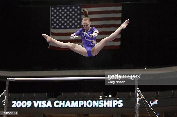 Visa Championships: Rebecca Bross in action during Women's Balance Beam at American Airlines Center. Dallas, TX 8/15/2009 CREDIT: Greg Nelson