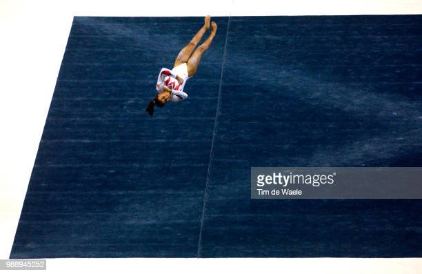 World Championships 2003 /Chaouch Soraya Fra Floor Exercise Sol Women Qualification Qualifications Femmes Championat Du Monde Gymnastique...