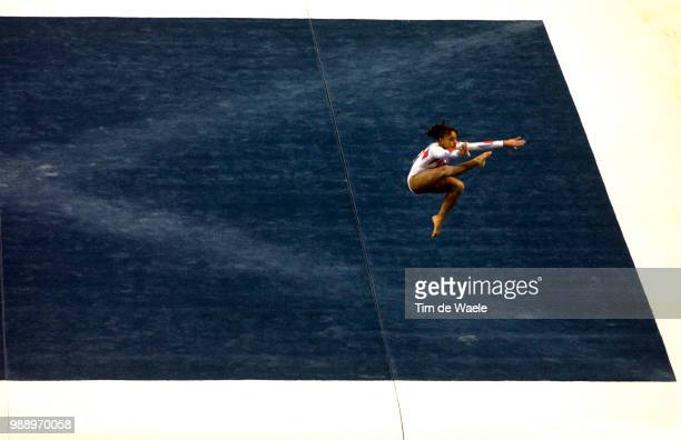 World Championships 2003 Chaouch Soraya Fra Floor Exercise Sol Women Qualification Qualifications Femmes Championat Du Monde Gymnastique...