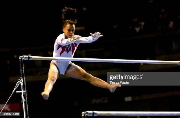 World Championships 2003 /Chaouch Soraya Fra Uneven Bars Barres Asymetriques Women Qualification Qualifications Femmes Championat Du Monde...