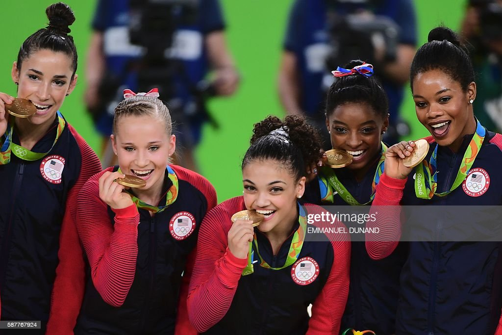 GYMNASTICS-OLY-2016-RIO-PODIUM : News Photo
