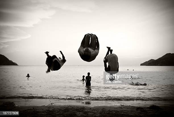 Gymnasts na praia