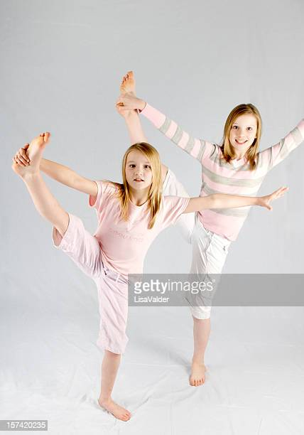 gymnasts - girl feet stock photos and pictures