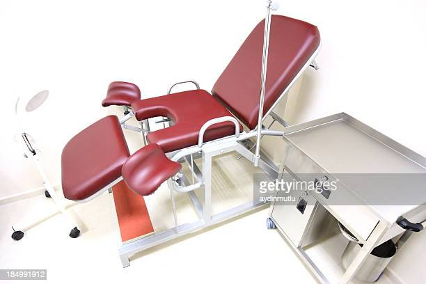 gynecologist practice - birthing chair stock pictures, royalty-free photos & images