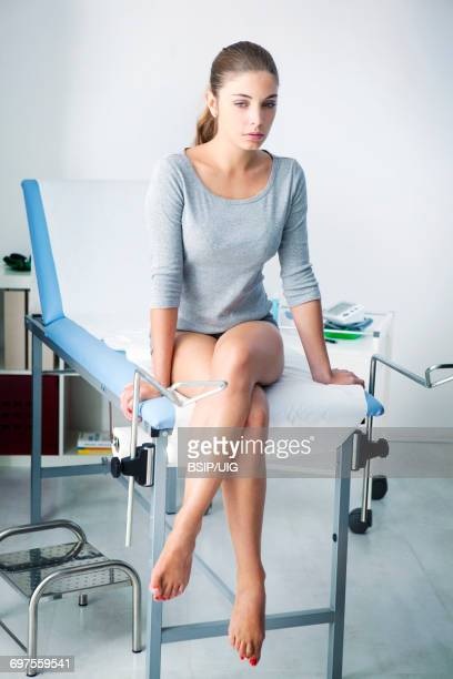gynecology consultation - pelvic exam stock photos and pictures
