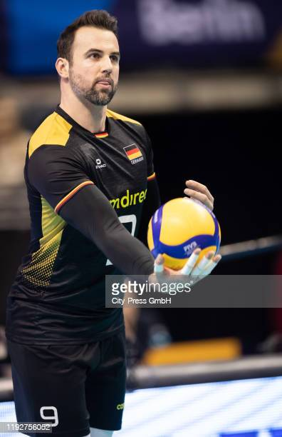 Gyoergy Grozer of team Germany during the Volleyball European Qualification match between Bulgaria and Germany at MaxSchmelingHalle on January 9 2020...