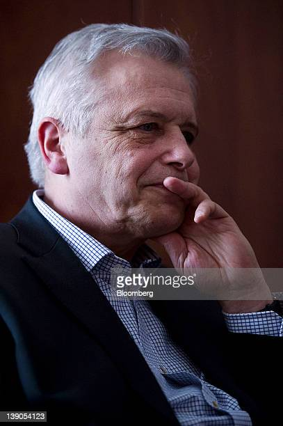 Gyorgy Kocziszky a member of the monetary council at the Magyar Nemzeti Bank Hungary's central bank pauses during an interview inside the bank's...
