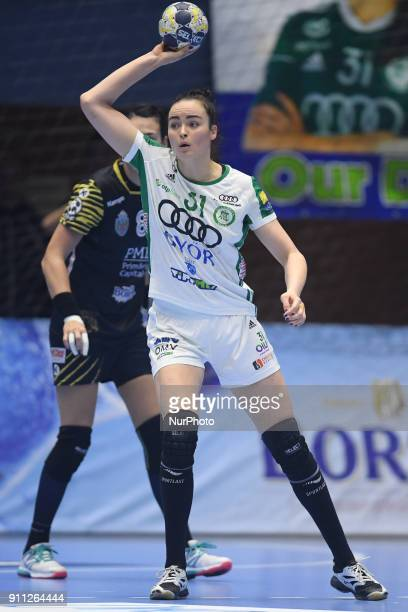 ETO Gyor's Yvette Broch during EHF Women's Champions League Main Round match between CSM Bucuresti and Gyori Audi ETO KC at Polivalenta Hall in...
