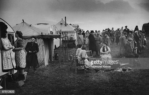 Gypsies and dealers from all over Britain meet to buy and sell horses at the annual horse fair held on the common at Brough Westmorland 1950 Original...