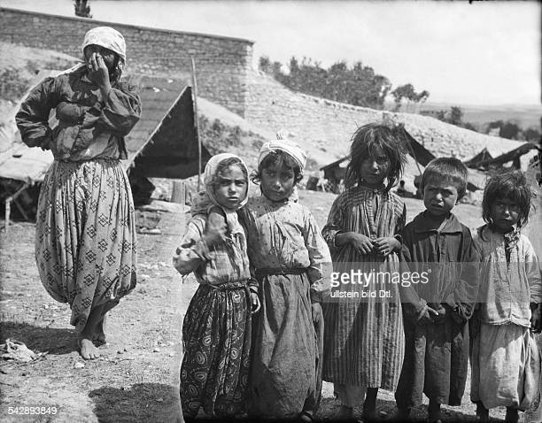 Gypsies Bulgaria Roma gipsy children in their camp at the walls of Varna 1933