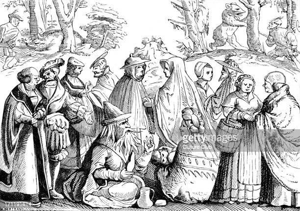 Gypsies male and female gypsies fortune telling 1552