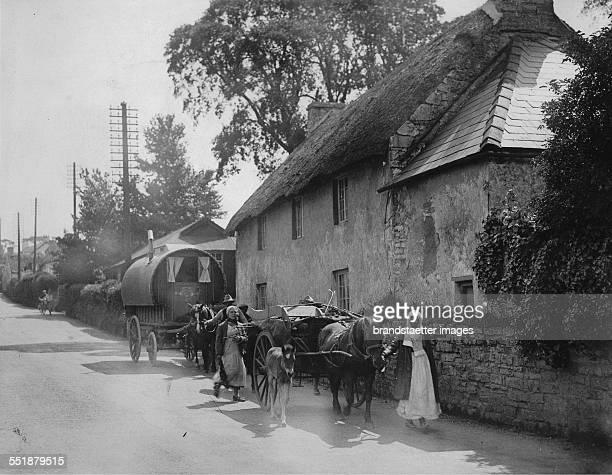 A gypsy caravan at Cowbridge in South Wales 28th May 1935 Photograph