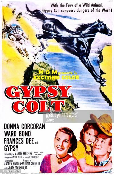 Gypsy Colt poster US poster art from left Frances Dee Donna Corcoran Ward Bond 1953