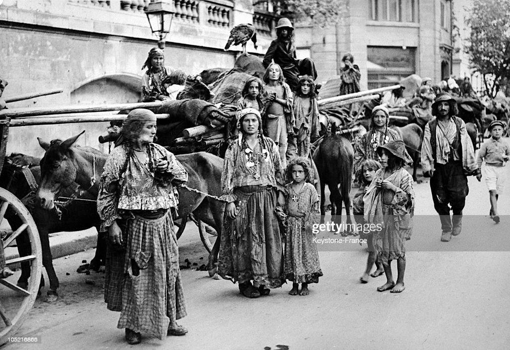 Caravan of romanian gypsies in 1938 pictures getty images a gypsy family ambling along in a street of romania on november 29 1938 publicscrutiny Choice Image