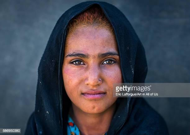 Gypsy girl portrait central county kerman Iran on January 1 2016 in Kerman Iran
