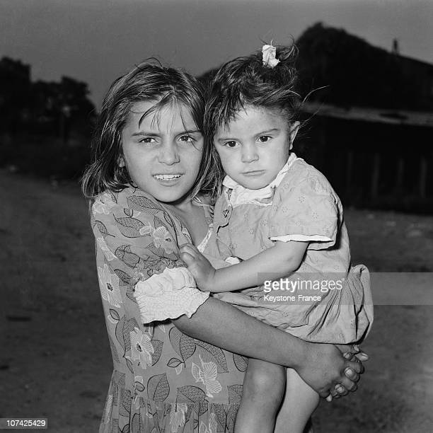Gypsy In Paris Area Two Young Gypsy Girls In France On 1955