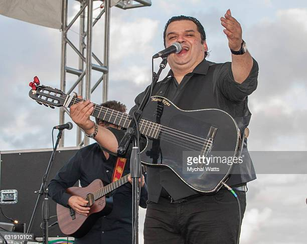 Gypsy Kings Guitarist Pablo Reyes at International Polo Club Palm Beach on January 16 2017 in Wellington Florida