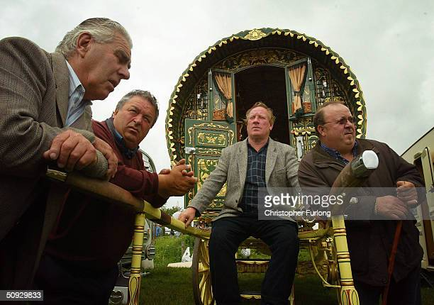 Gypsy men pass the time at Appleby Horse Fair June 5 2004 in Appleby England Appleby Horse Fair has existed under the protection of a charter granted...