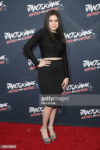 Gypsy Otero attends the premiere of Awesomeness TV's Janoskians Untold and Untrue at Regency Bruin Theatre on August 25 2015 in Los Angeles California