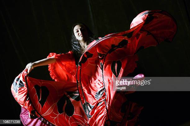 gypsy - flamenco dancing stock photos and pictures